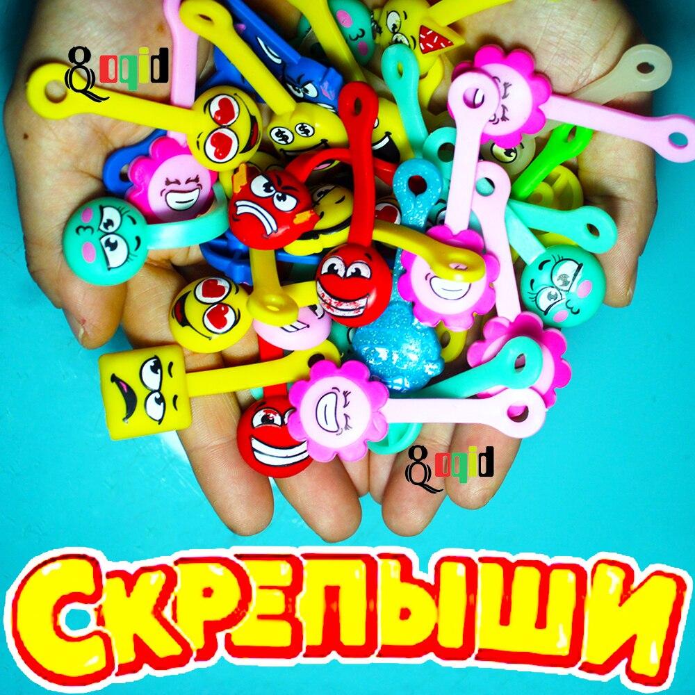 100pcs Skrepyshi Straps Cartoon Skrepyshy from Magnit Zombyshy for Children Interesting Skrepysh Paper Clips Collection Skrepish